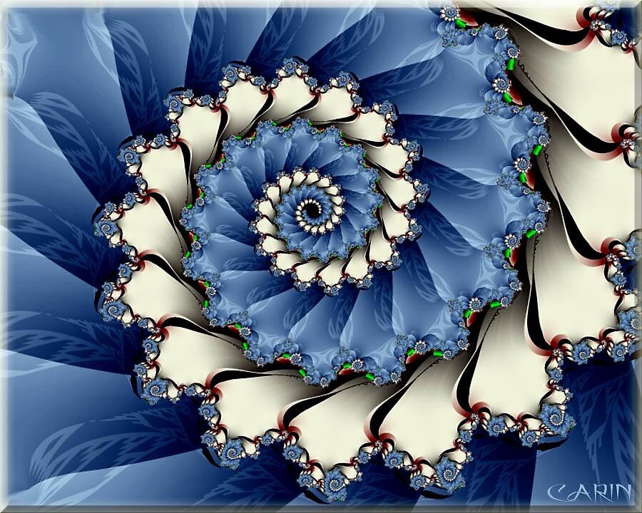 Blue swirl by FractaliaNo1