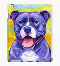 Colorful American Pitbull Terrier Dog iPad Case/Skin