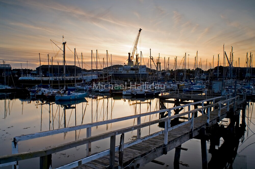 SUNSET AT BLYTH HARBOUR by Michael Halliday