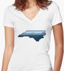 North Carolina State Appalachian Mountains Women's Fitted V-Neck T-Shirt