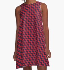 Vestido acampanado Vestido Ole Miss Saturday Chevron 1