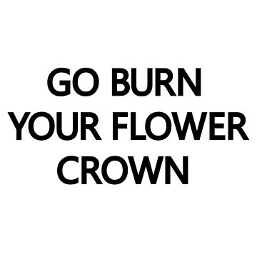 Go Burn Your Flower Crown Beyonce Nicki Minaj  by abstractoworld