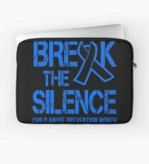 Child Abuse Prevention Break The Silence Laptop Sleeve