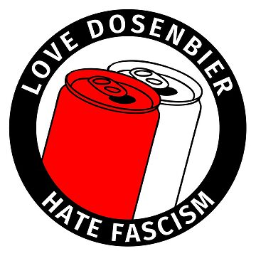 Antifa Logo Humor - Love Canned Beer Hate Fascism by fabianb