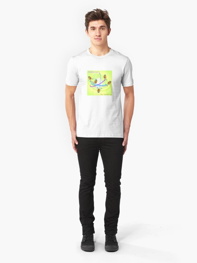 Alternate view of Two Scrambled Eggs - EGGocentric Slim Fit T-Shirt