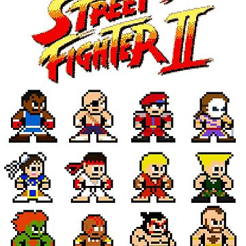 Street Fighter II 8-Bits by marcusfpa
