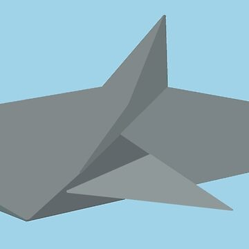Grey Origami Shark by Rocket-To-Pluto