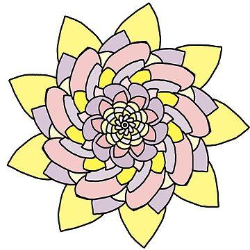 Pastel flower by tmntphan