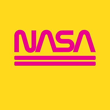 Vintage Nasa Worm Logo Pink - Awesome Retro Space by RaveRebel