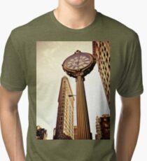 Camiseta de tejido mixto Flatiron Building and 5th Avenue Clock - New York City