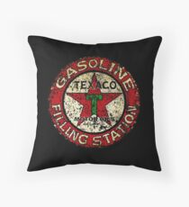 Vintage Texaco sign USA Throw Pillow