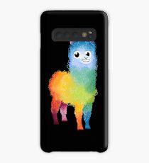 Regenbogen-Lama Hülle & Klebefolie für Samsung Galaxy