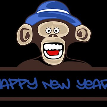 Happy New Year New Year's Eve Monkey Shirt by hourglass7