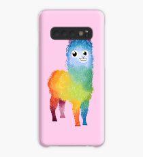 Regenbogen-Lama pink Hülle & Klebefolie für Samsung Galaxy