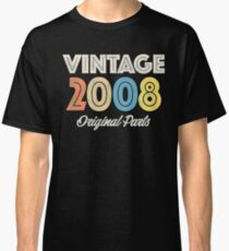 Vintage Retro 2008 Birthday Original Parts Classic T-Shirt