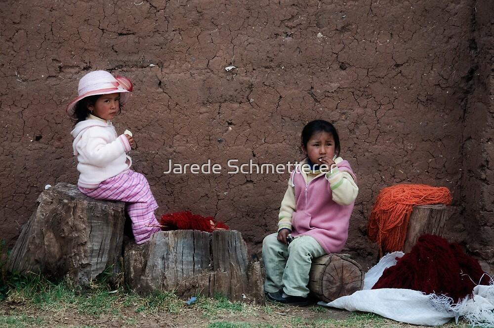 Incan Children by Jarede Schmetterer