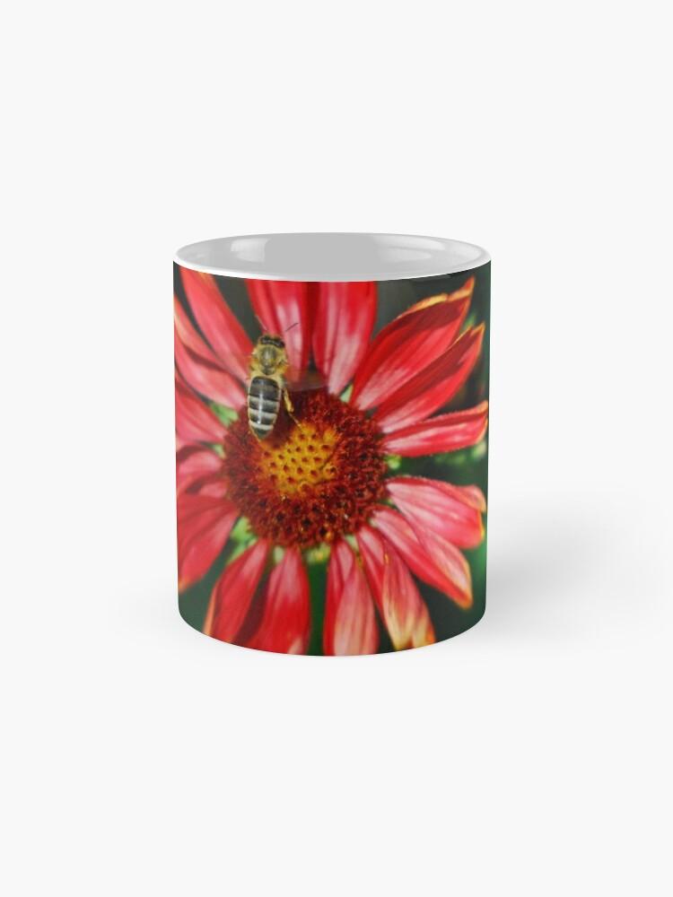 Alternate view of Bee on a red helenium Standard Mug