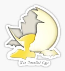 Two Scrambled Eggs - The cracked EGG Sticker