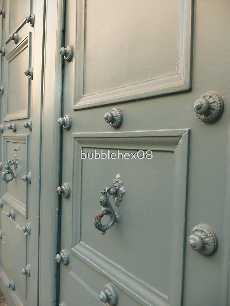 Door in grey white by bubblehex08