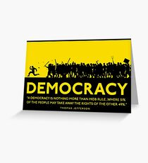 Democracy Greeting Card