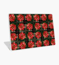 Bee on a red helenium Laptop Skin