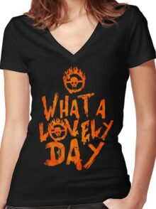 What a Lovely Day - Warrior Women's Fitted V-Neck T-Shirt