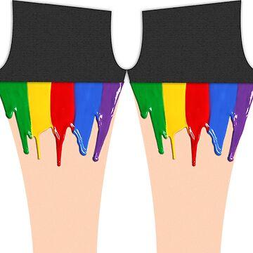 Rainbow legs. by ImHigh