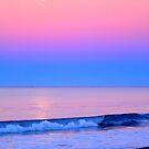 Moonset in Oceanside, CA by Bryce Bradford