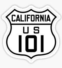 US Route 101 (California) 1926 Cutout Edition Sticker