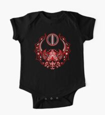 The Crimson Bat Steed of the Red Goddess by Kalin Kadiev Short Sleeve Baby One-Piece