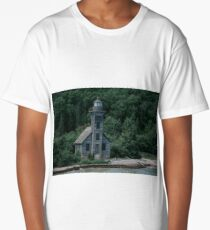 Grand Island East Channel Lighthouse Long T-Shirt