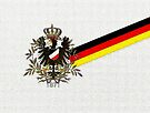 German 1871 Eagle and current German flag  by edsimoneit