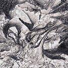 Grey Black Detailed Marble by kina lakhani
