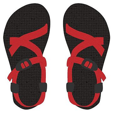 Red Chacos by lexjincoelho