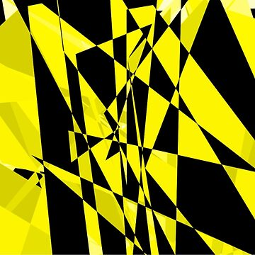 Yellow and black Abstract design by JohnyZero