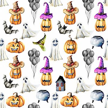 Halloween Pumpkins, Ghostes, Bats, Funny Hats by pugmom4