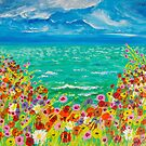 Cliff top summer flowers by LaHickmana