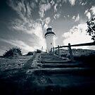 Byron Bay lighthouse - pinhole by Sue Hammond