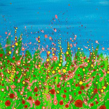 Joyful summer meadow by LaHickmana