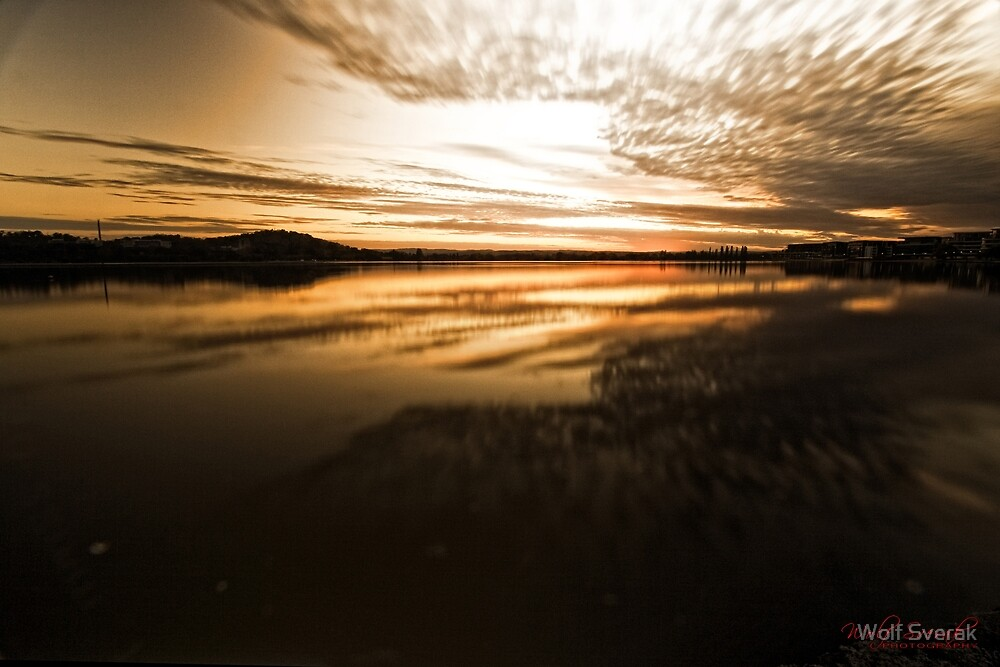 ND Filter Play (shutter 30 sec) at Lake Burley Griffin, Canberra/ACT/Australia (3) by Wolf Sverak