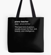 Funny Pianist / Piano Teacher Gift Tote Bag