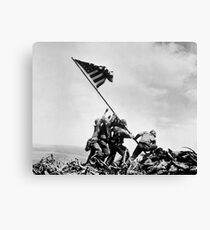 Raising the Flag on Iwo Jima - WW2 - 1945 Canvas Print