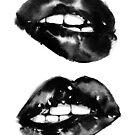 Black Biting Lips II by doriana