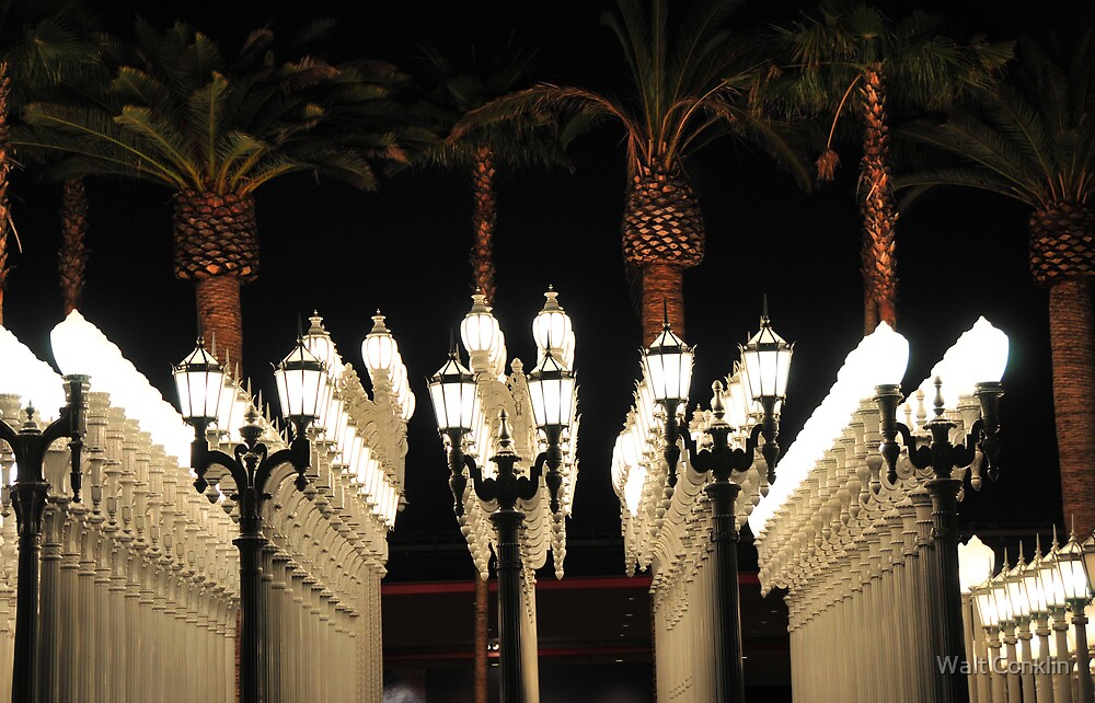 Palm Trees and Lamp Posts by Walt Conklin