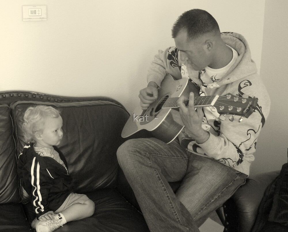 Playing Guitar by kat  -