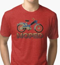 On my moped Tri-blend T-Shirt