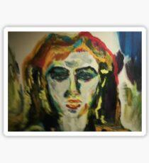 painting:girl....dance all night Sticker
