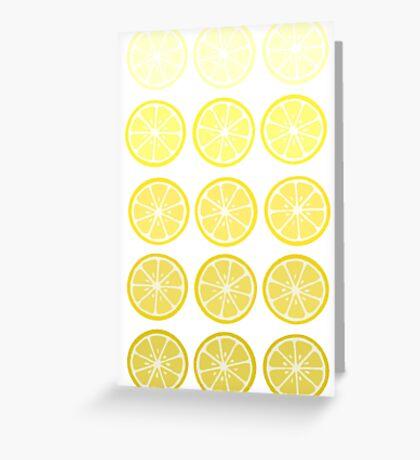 Gradient Lemons Greeting Card