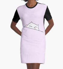 Bongo Cat Graphic T-Shirt Dress
