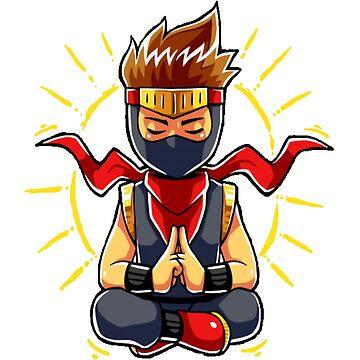 Ninja boy meditation mode by sager4ever